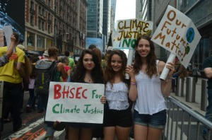BHSEC students at the climate march. Photo credit to Kathleen Miao, '16.