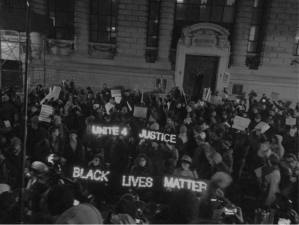 A scene from the Eric Garner protests in New York City. Photo credit to Danya Levy, '15.