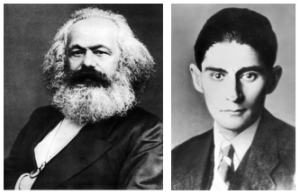 Karl Marx will remain in the curriculum, while Franz Kafka will be cut. Photos retrieved from Wikimedia Commons and counter-currents.com.