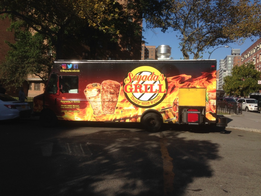 Seyada's Grill, the new food truck on Houston street (photo credit_ Tanzim Ahmed 18')